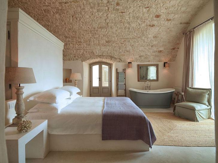 итальянский средиземноморский интерьер спальни - фото