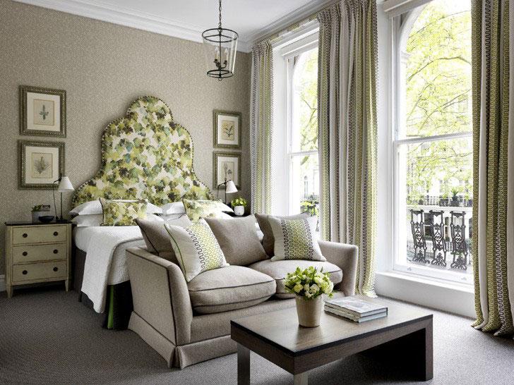 спальня в английском стиле - фото