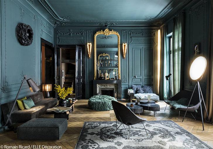 Bold dark colors for Paris apartment 〛 ◾ Photos ◾Ideas ...