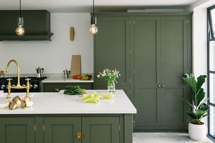Великолепная кухня в зеленом