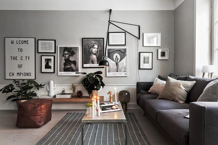 комната в скандинавском стиле - фото