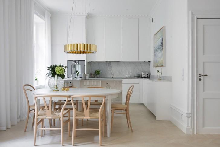 кухня в скандинавском стиле - фото