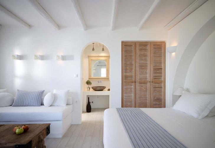 греческий интерьер комнаты в средиземноморском стиле