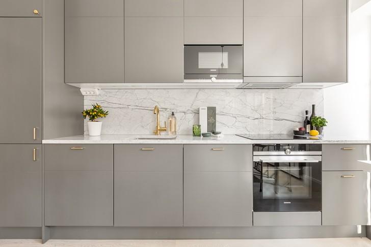интерьер кухни в скандинавском стиле - фото