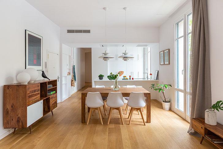 Нежная минималистичная квартира в Барселоне (90 кв. м)