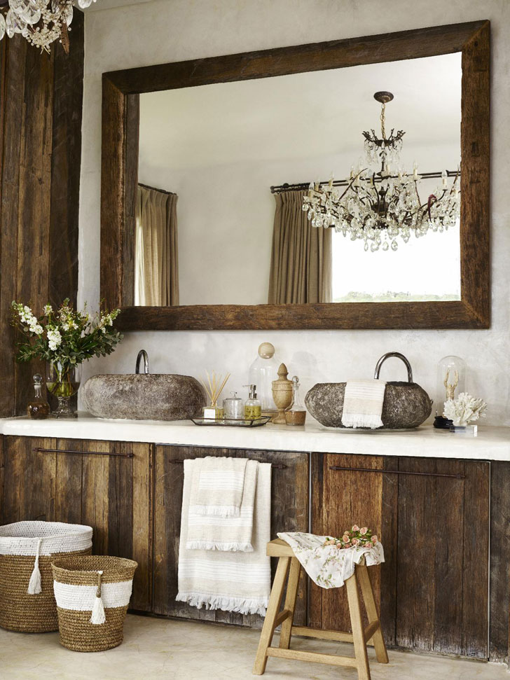 мебель из натуральных материалов в средиземноморском стиле - фото