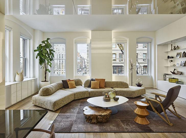 Стильная квартира в легендарном здании в Нью-Йорке