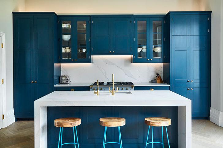 Идеальная синяя кухня