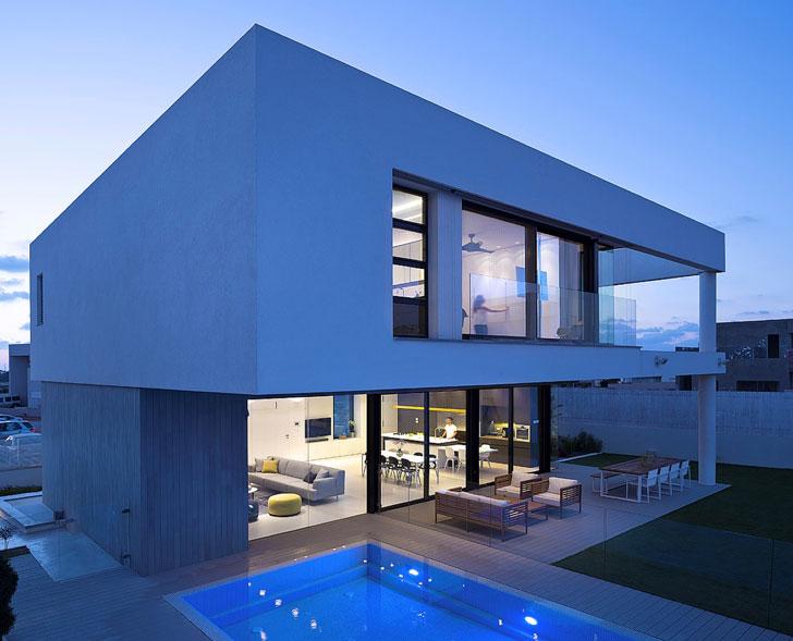 дом в стиле минимализм - фото