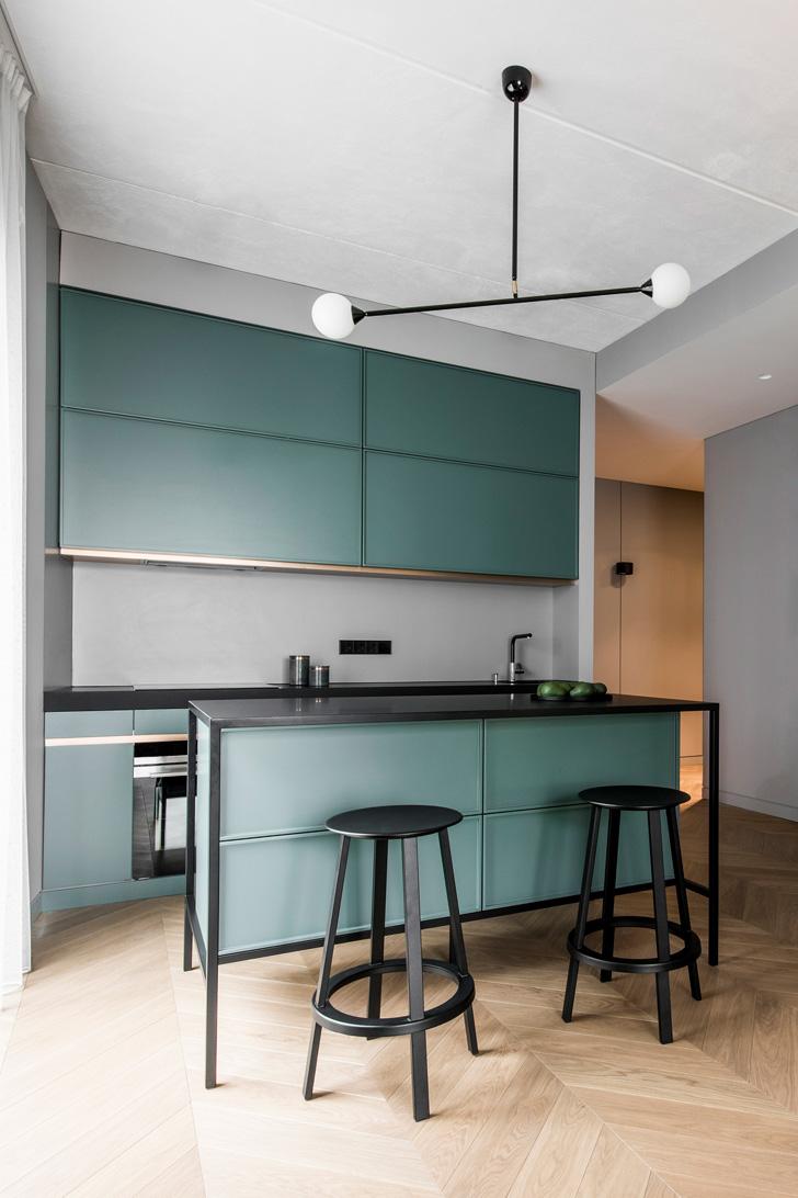 потолок на кухне в стиле минимализм - фото