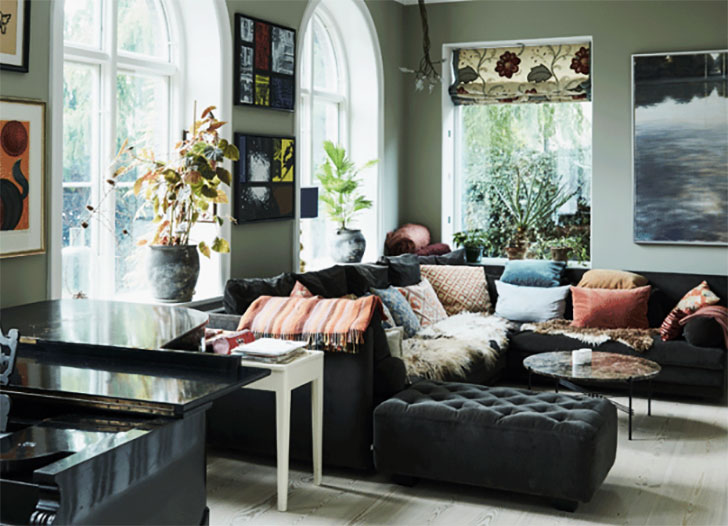 Теплые и свежие тона в интерьере дома в Копенгагене