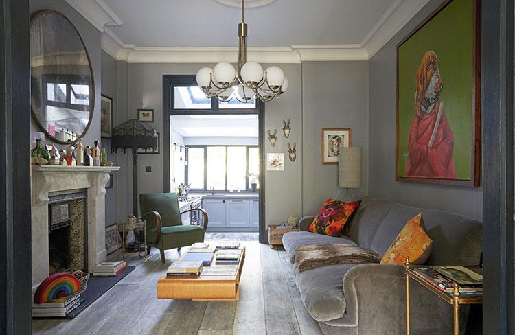 Принты и аксессуары как лейтмотив интерьера: необычный дом в Лондоне