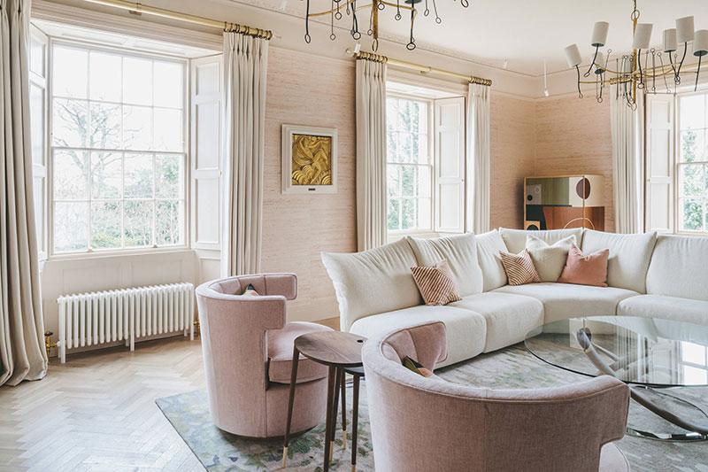 Благородный интерьер дома в Великобритании