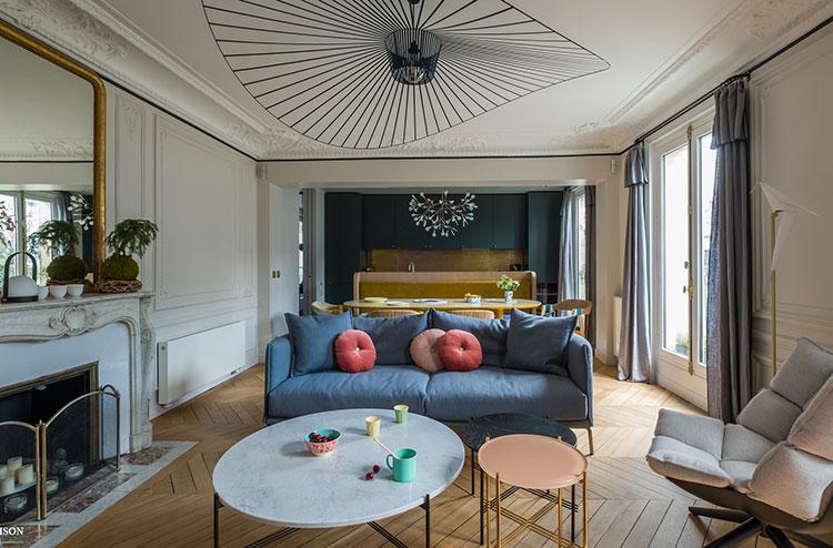 Дизайн с изюминкой: современные апартаменты в Париже