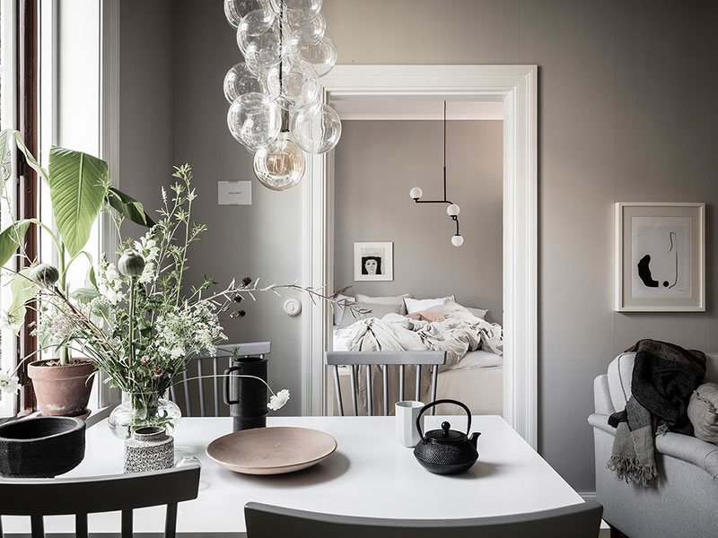 Теплый интерьер небольшой скандинавской квартиры (41 кв. м)