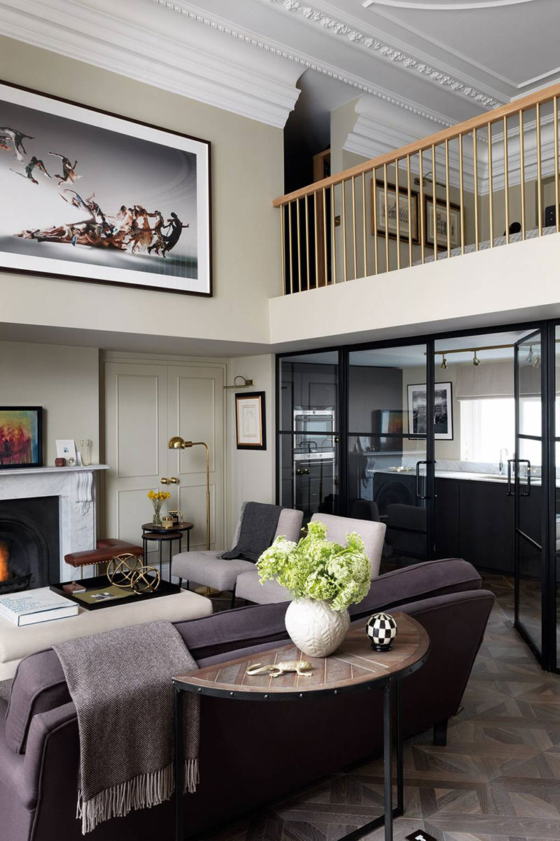 Very Small Living Room Design: Small But Very Stylish And Elegant Apartment In London