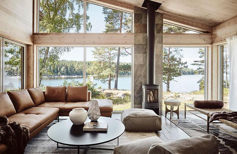 Дом в Швеции: уютная атмосфера с видом на озеро