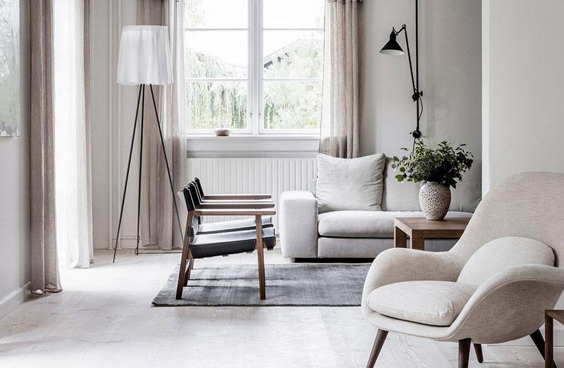 Теплый скандинавский минимализм в загородном доме в Дании
