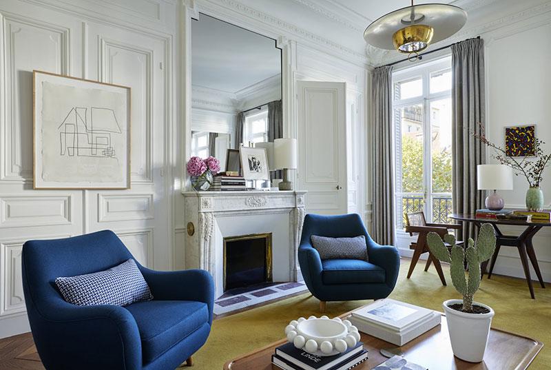 Элегантные апартаменты с видом на тихий дворик в Париже