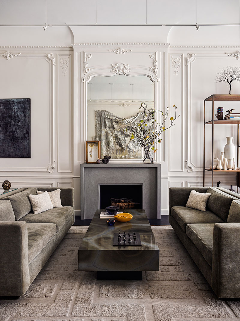 Classic Design Furniture London when classic meets modern: townhouse in new york