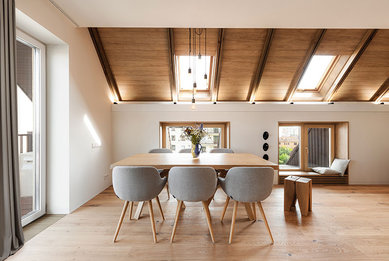 This Bright Attic Apartment Was Designed By Paint It Studio For A Young Family Who Loves Modern Design And Ready To Experiments
