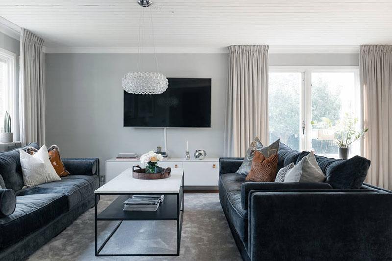 Современный и элегантный интерьер дома в Швеции