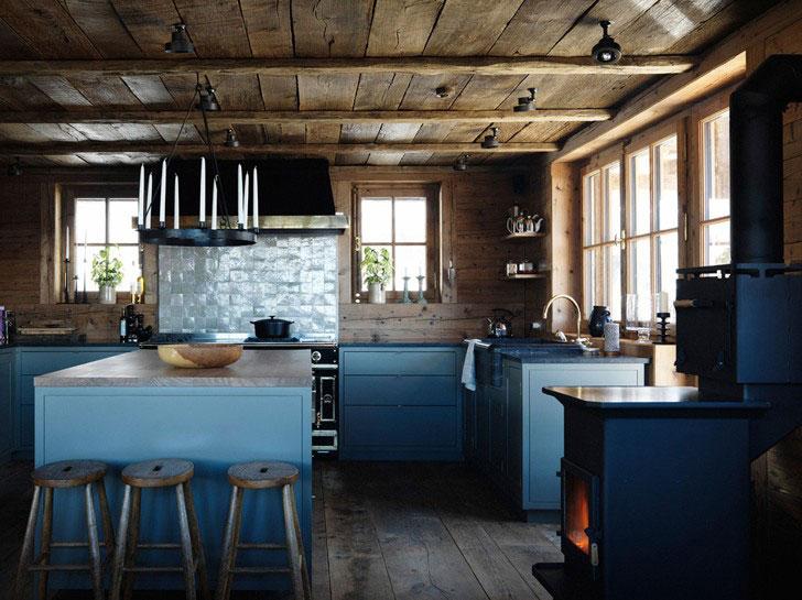 кухня в стиле шале - фото
