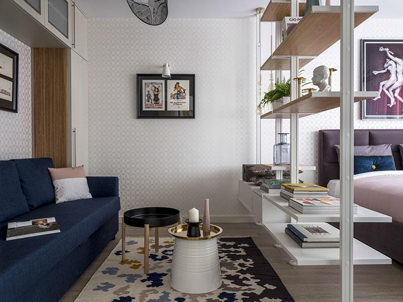 Умная организация пространства: маленькая квартира в Москве (32 кв. м)