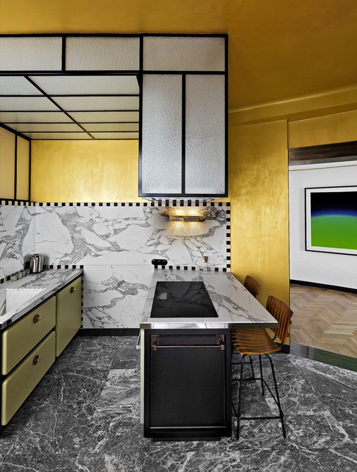 интерьер кухни Арт Деко - фото