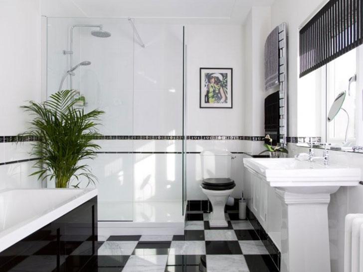 интерьер ванной в стиле Арт Деко - фото