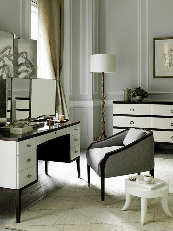 дизайн спальни в Арт Деко - фото