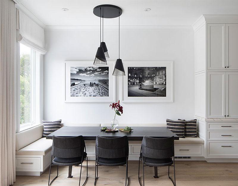 Стильный черно-белый интерьер дома в Сан-Франциско