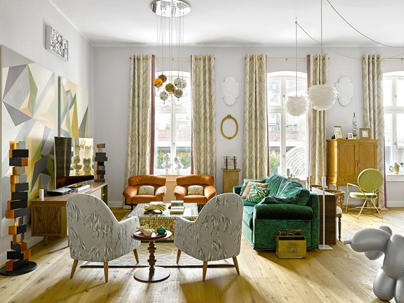 Красочная квартира в старом доме в Дюссельдорфе от российских дизайнеров