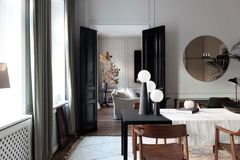 Элегантность в спокойных тонах: современная квартира в Стокгольме