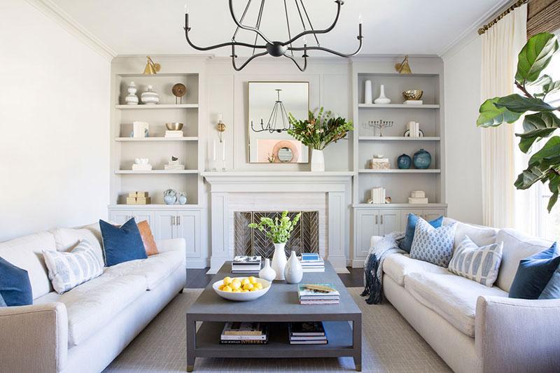 Оттенки синего в интерьере дома для большой семьи в Калифорнии