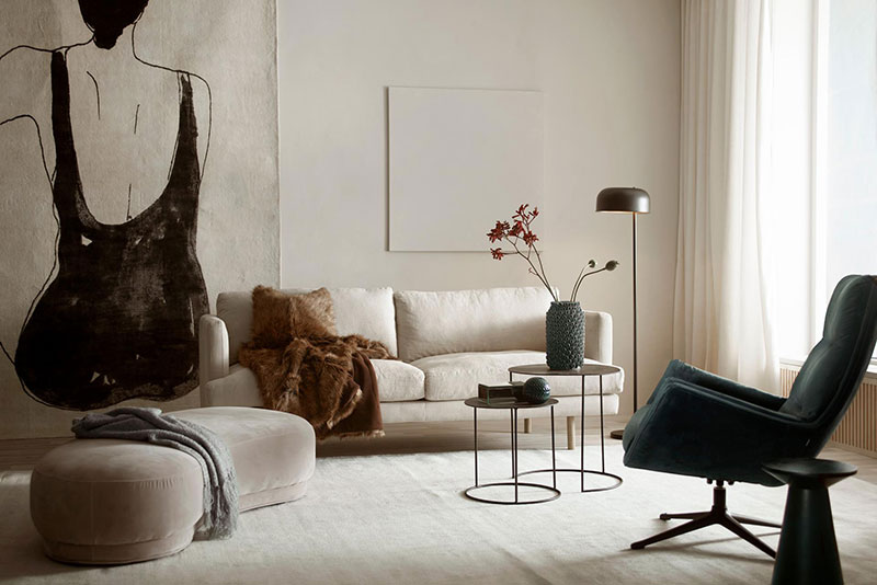 cbe3745d Just look at these beautiful modern interiors from the catalog of the  Swedish company Jotex – they breathe softness and warmth thanks to  well-chosen ...