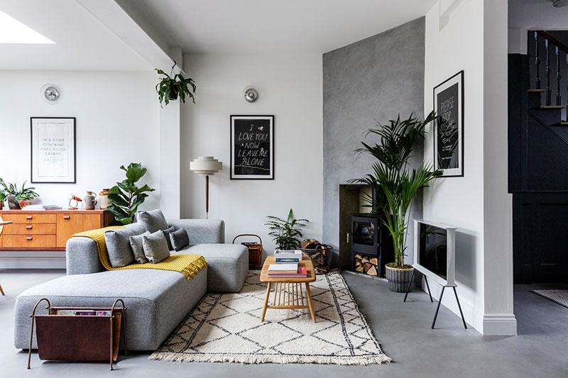 Современный интерьер с нотками скандинавского стиля в Лондоне