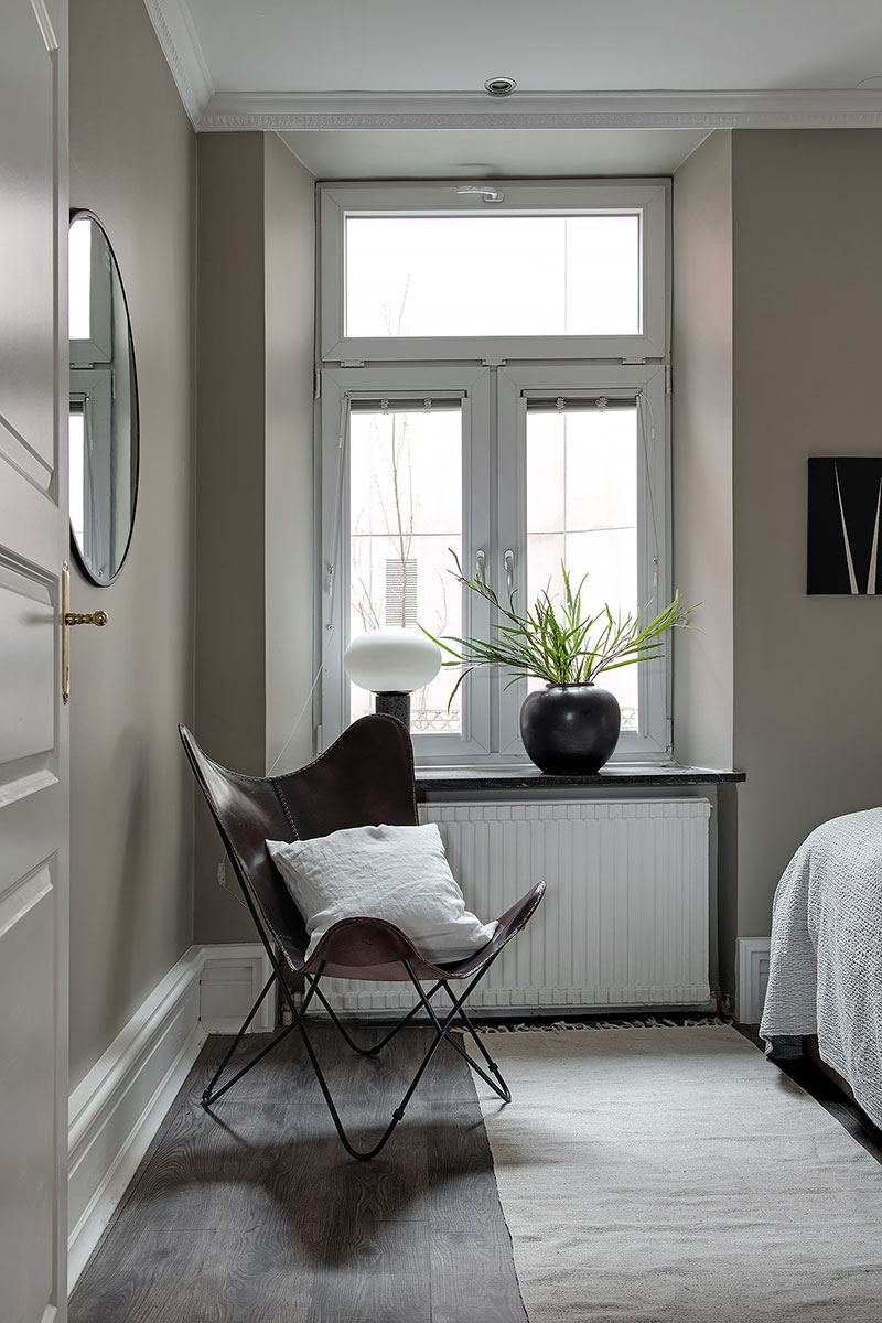 More small apartment of a musician in sweden