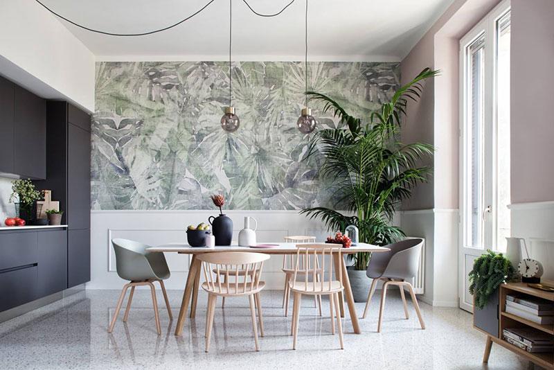 Стильная квартира с экзотическими нотками в Милане