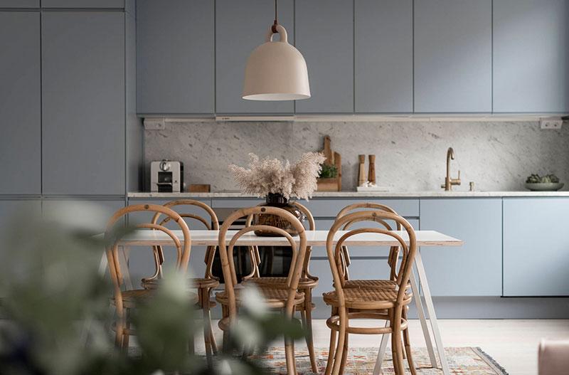 Нежные пастельные оттенки и много воздуха: приятная квартира в Стокгольме