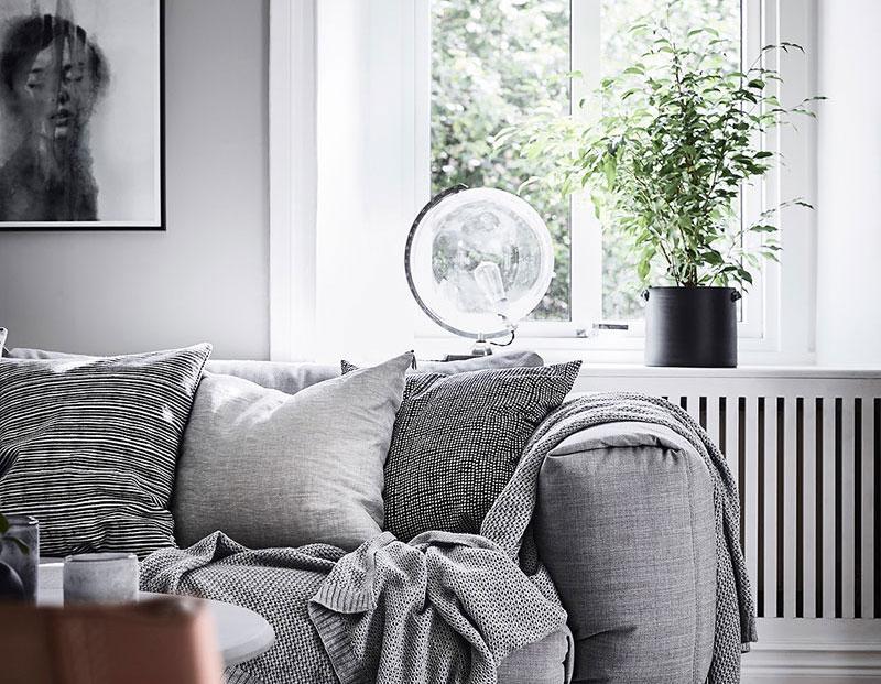 Светлая квартира с природными мотивами в Швеции (74 кв. м)