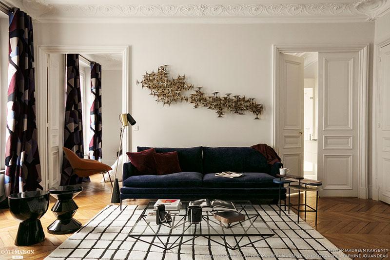 Игра на контрастах: интересная черно-белая квартира в Париже (75 кв. м)