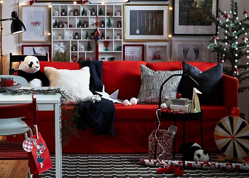 Три уютные праздничные гостиные от IKEA