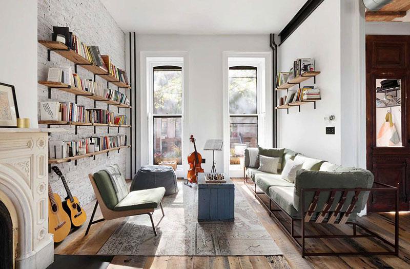 Светло и просторно: минималистичный интерьер таунхауса в Бруклине