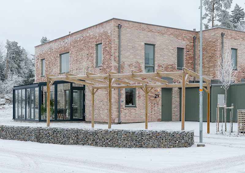 Swedish Home With Large Windows And Glass Terrace 176 Sqm Pufik