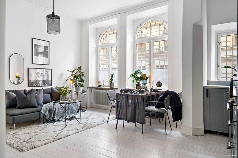 Elegant monochrome studio apartment in Sweden (30 sqm) 〛 ◾ Photos ...