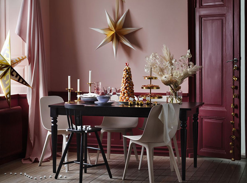 Beautiful pink Christmas by Ikea