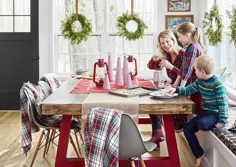 Традиционный рождественский декор для семейного гнездышка в Мичигане