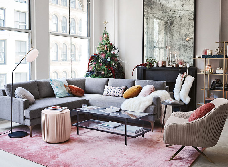 West Elm Christmas.Modern Christmas In The City Winter Catalog By West Elm