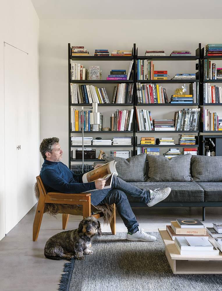 Легкий современный интерьер дома архитектора в Бельгии